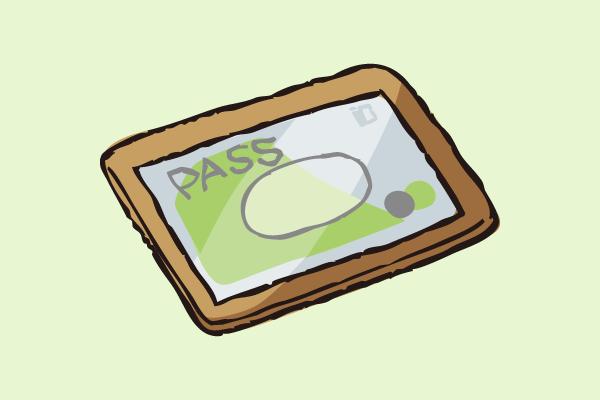 定期券のイラスト