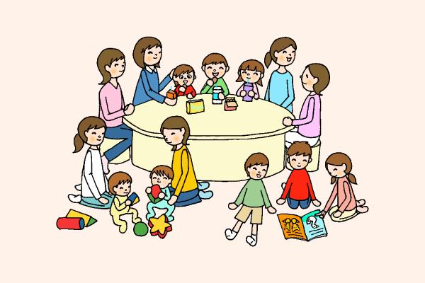 親子交流のイラスト