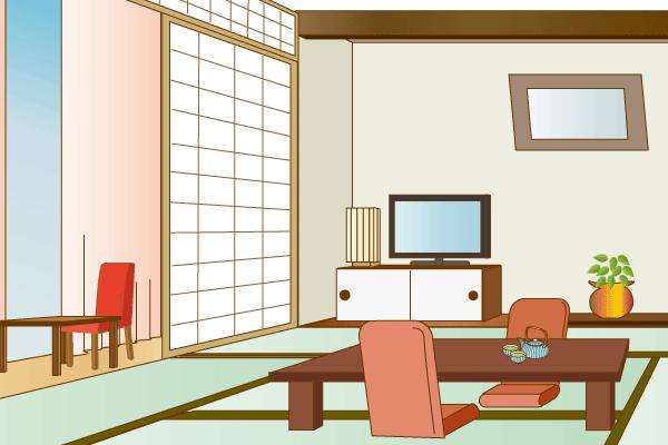 ホテルの客室のイラスト