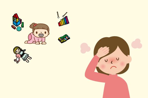 小さな子供を面倒見なければいけないのに、具合が悪い母