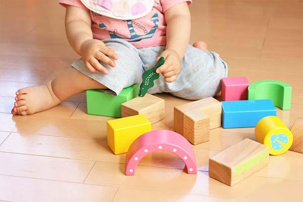 幼児がおもちゃで遊んでいる様子